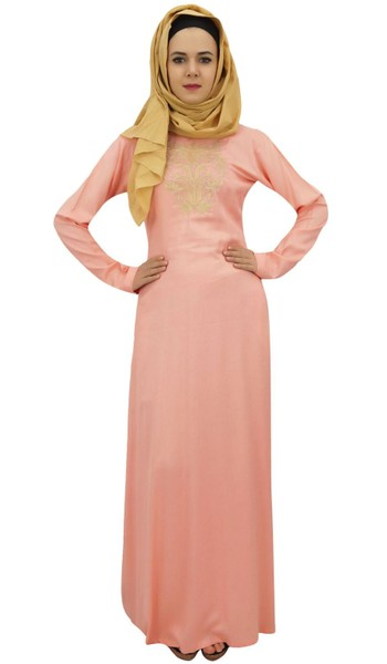 d808d162ba88 Bimba Women's Long Rayon Maxi Abaya Jilbab Islamic Dress With Hijab ...