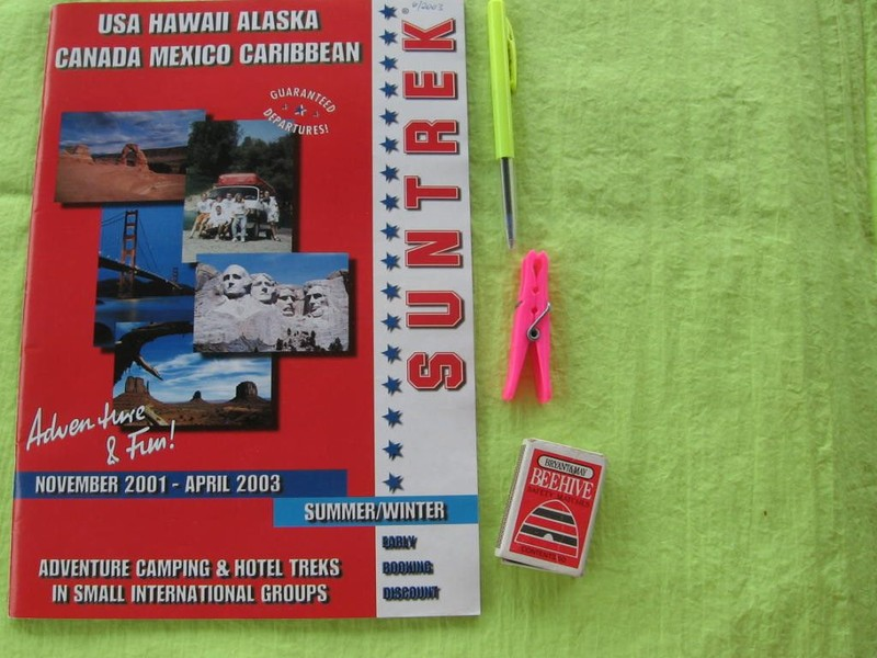 BROCHURE 2003 Travel Agent 'SunTrek Adventure Tours' USA