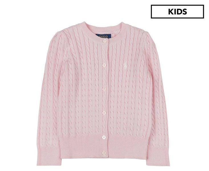 Kids' Lauren Ralph Cardigan Pink Mini Cardigans Cable Polo kiXuTOZP