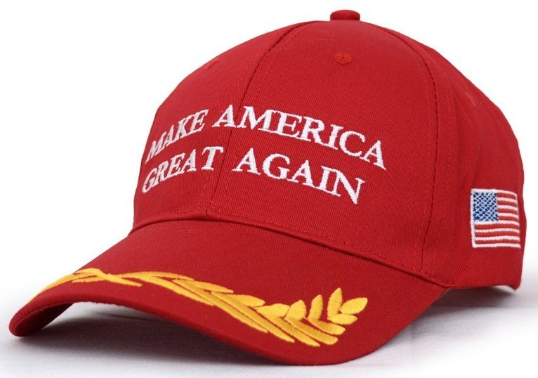 Make America Great Again red embroidery Donald Trump Hat Cap