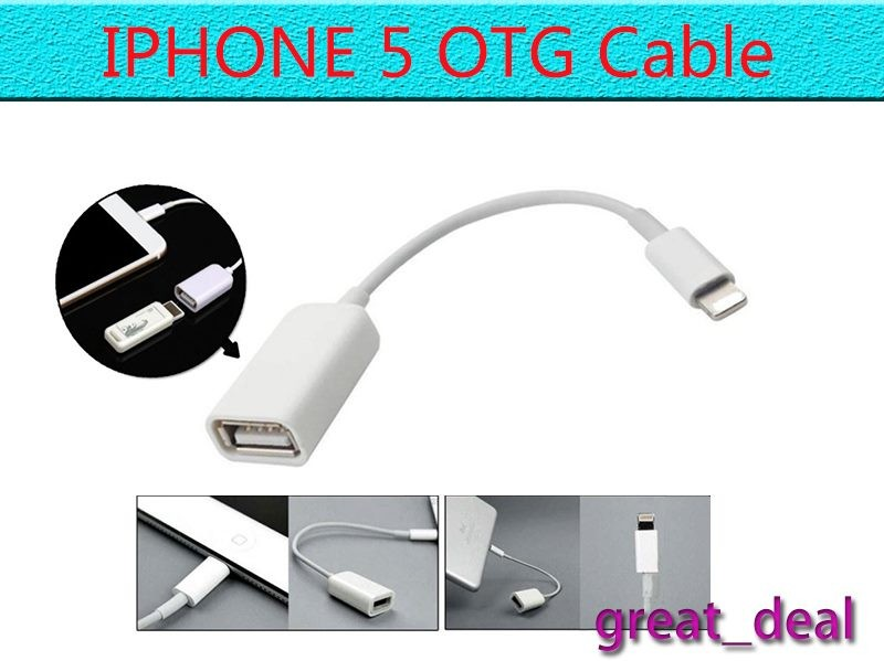 promo code 4b44c d41ad USB to OTG Adapter Cable For iPhone 5 5S 6 6S iPad