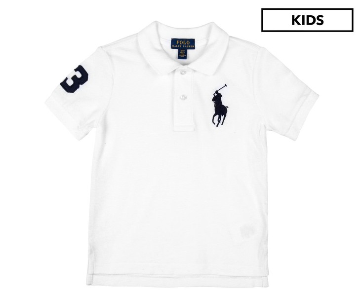 f811ea564 Polo Ralph Lauren Kids  Basic Big Pony Mesh Polo White Polo Shirt ...