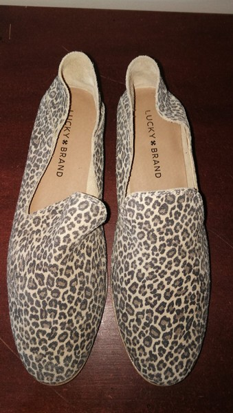49cdad222e00 LUCKY BRAND Gorgeous Animal Print Soft Leather Loafers NEAR ...