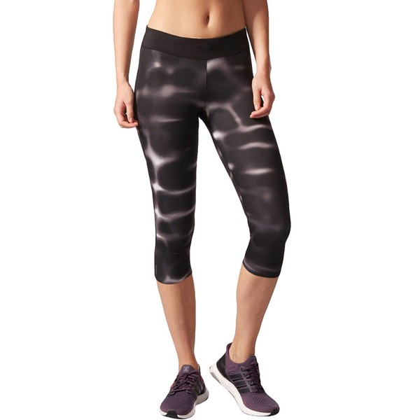 553620cc8d0 adidas Performance Womens Response 3/4 Capri Sports Gym Running Leggings -  Black | Trade Me