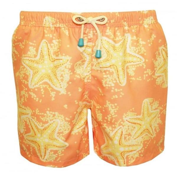 84f2928bc7ae Starfish Print Boys Swim Shorts, Peach/Lemon | Trade Me