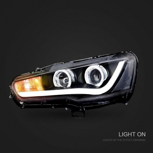 left + right led drl headlight for mitsubishi lancer 2008-2017 evo x cj  brandnew | trade me