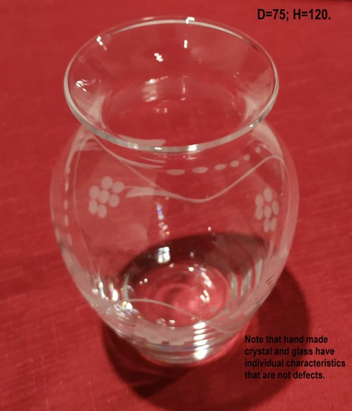Small Etched Crystal Vase