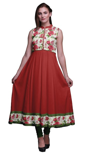 05973d2c62b6 Bimba Indian Long Kurti For Women Party Wear Sleeveless Anarkali Kurti Dress  | Trade Me