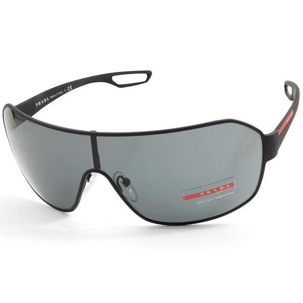 5ec2373a182b Prada Sport PS 52QS DG01A1 Matte Black Rubber/Grey Shield Sunglasses |  Trade Me