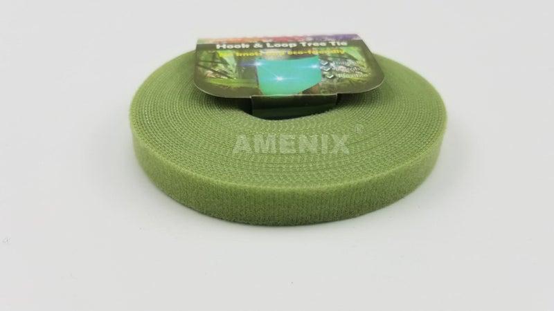 Amenix Brand - 12mm x 7 6m Adjustable Plant Ties For Gardening - Green