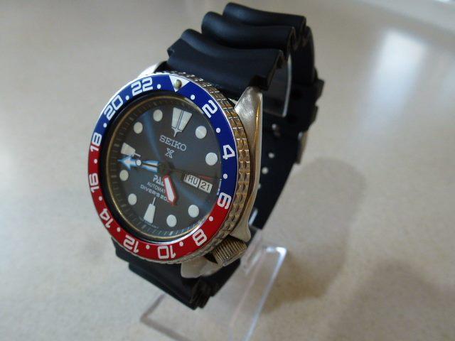 Seiko Diver Padi Gmt Blue Sunburst 6309 Excellent Trade Me
