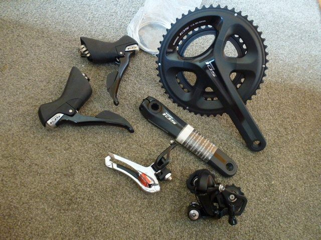cc408d5838e Shimano 105 5800 11 Speed NEW Groupset Black | Trade Me