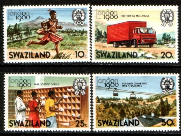 1980 SWAZILAND London 80 - Mail Services set NH