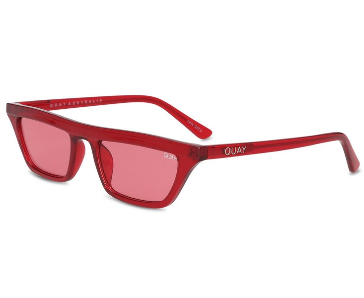 cd501d91af399 Quay Australia Women s Finesse Sunglasses Red Red Womens