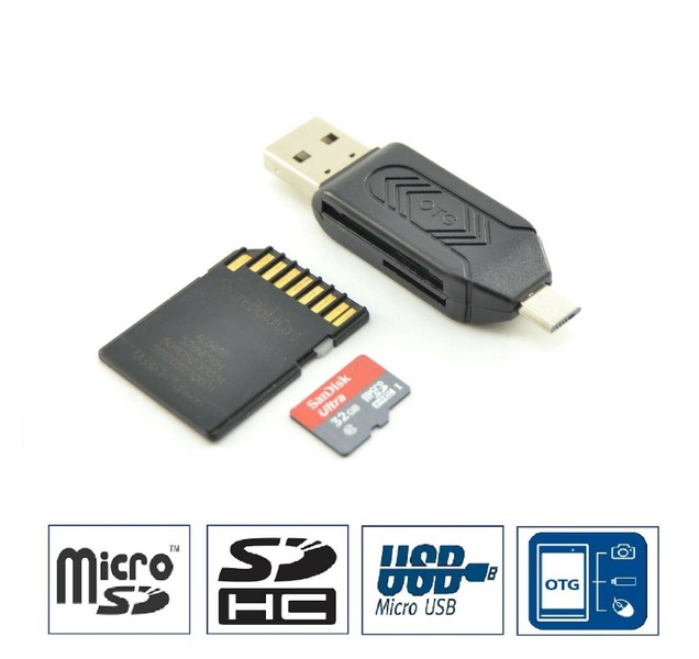 Android OTG SD USB Flash Drive Micro SD Card Reader Adapter