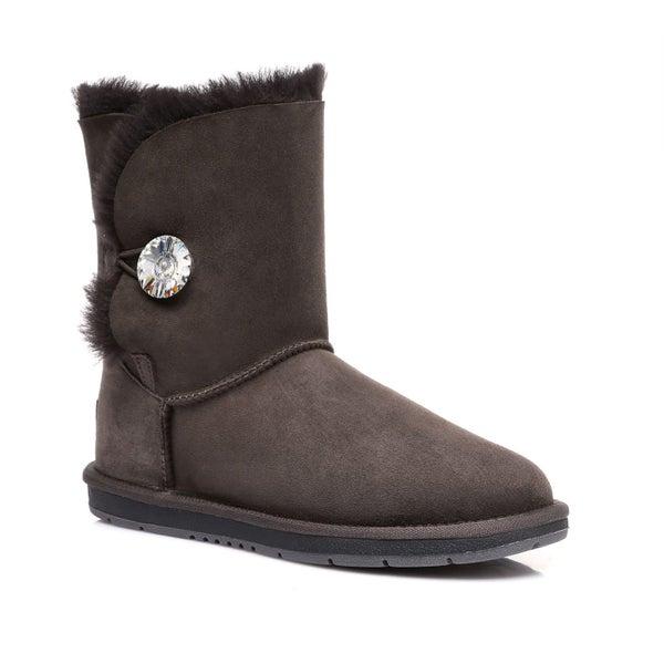 d1afd55b2d1 UGG UGG Boots Australian Genuine Sheepskin Short button with Crystal #511018
