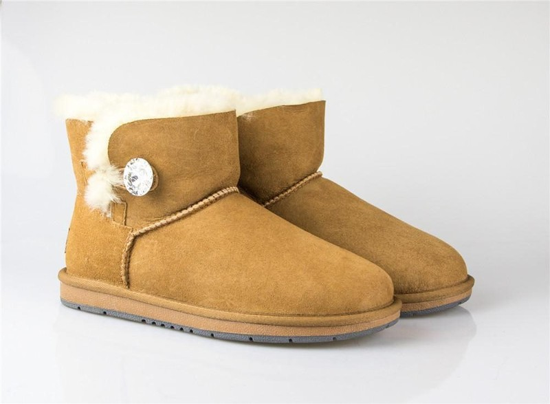 b34f7d82968 UGG UGG Boots Australia Premium Double Face Sheepskin Mini Button with  Crysta...