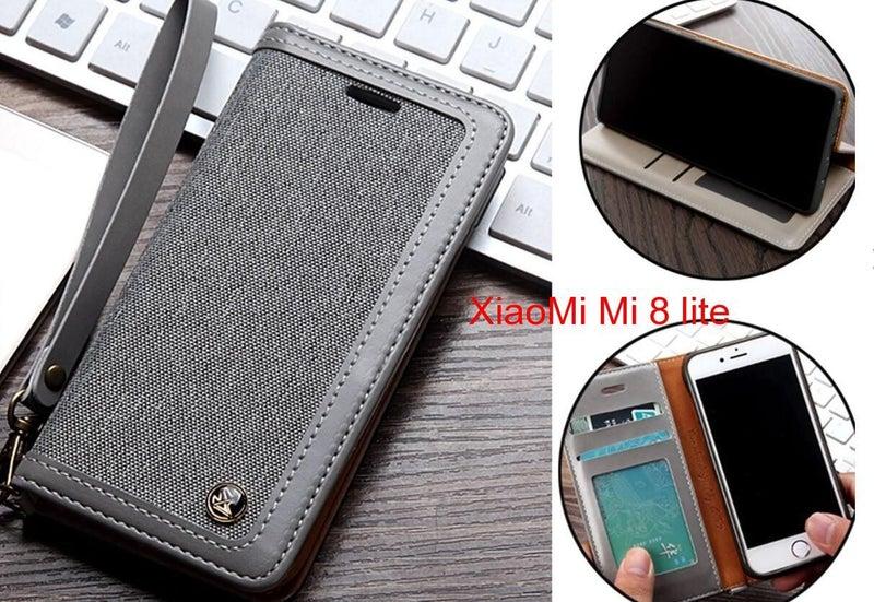 new arrival 41958 a78d0 XiaoMi Mi 8 lite Case Wallet Denim Leather Case