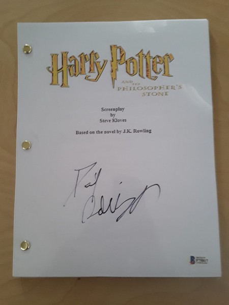 Harry Potter movie script signed by Daniel Radcliff