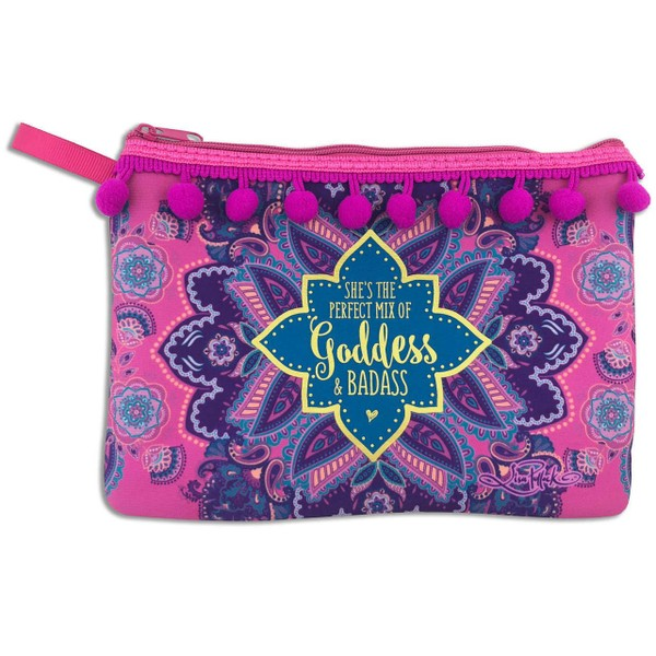 b71ecdc4cb Goddess Essential Purse Carry Case in Pink Mandala Design with Secure Zip |  Trade Me