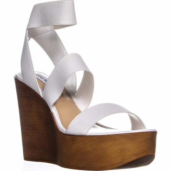 1b8f986af8b Steve Madden Womens Blondy Sandals, White , Size 9 Pre-Owned