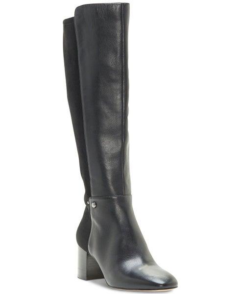 e3598b830ef Enzo Angiolini Womens Pakemer 50/50 Leather Almond Toe Knee High Fashion  Boots