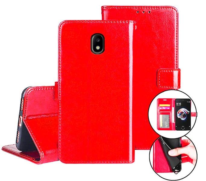 149b251f95e Samsung galaxy j5 pro case fine leather flip wallet 3 slots cash pocket  (red) | Trade Me