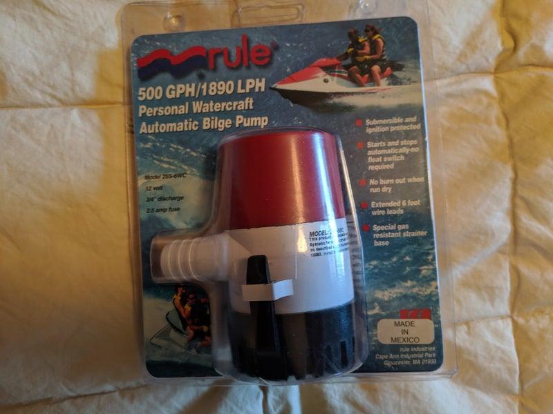 Rule Fully Automatic 500gph Jetski Bilge Pump Trade Me
