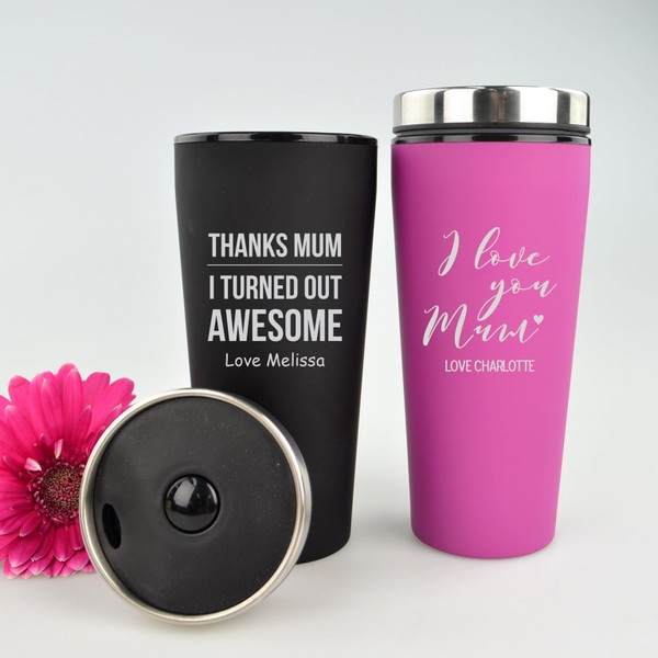 Mothers Day Personalised Engraved Thermo Coffee Travel Mug Custom Gift For Mum Trade Me