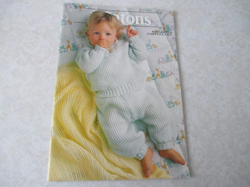 Baby Knitting Pattern Book Patons Baby Book Trade Me