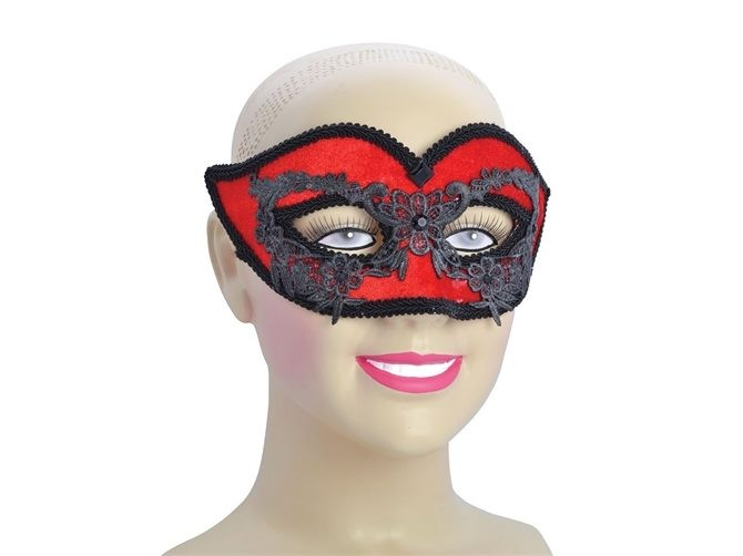 8cfc52ae8c8ea Red Floral Design Eye Mask - Fancy Dress Masquerade Glasses Ball Venetian  Style | Trade Me