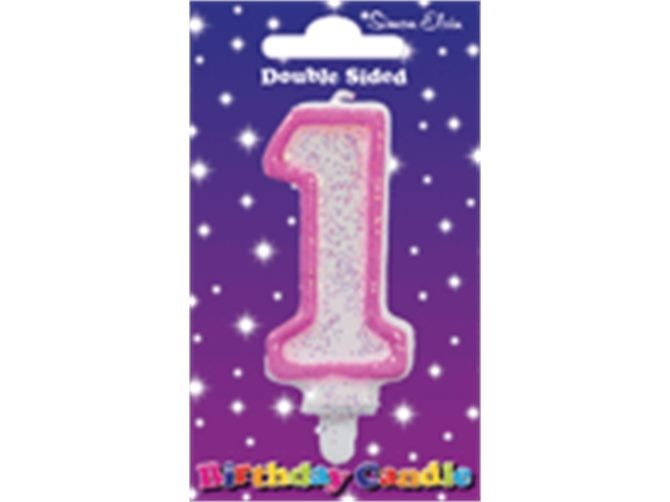 Pink Birthday Candle