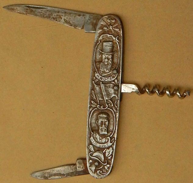 Antique 2nd BOER WAR Era POCKET KNIFE German Made KRUGER & De Wit