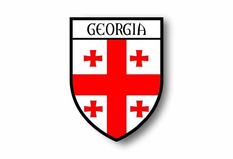 Georgia Flag Vinyl Decal Sticker ** 5 Sizes **