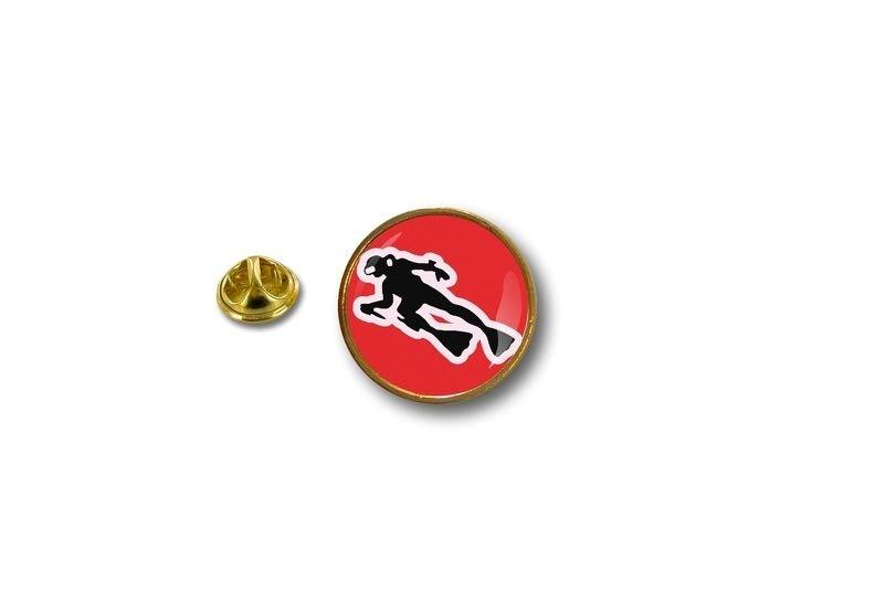 pins pin/'s flag badge metal lapel hat button padi flag scuba diver dive diving