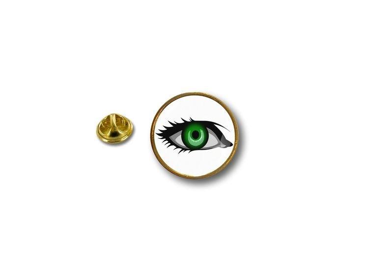 pins pin's flag badge metal lapel hat button biker green eye turkish khamsa  r2