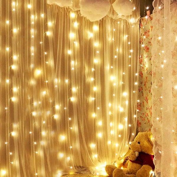 240 Led Curtain Lights Christmas Tree
