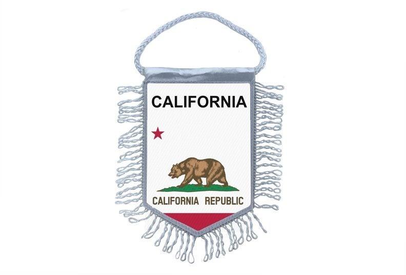 3b2210ee7c4f6 Mini banner flag pennant window mirror cars country banner usa states  california