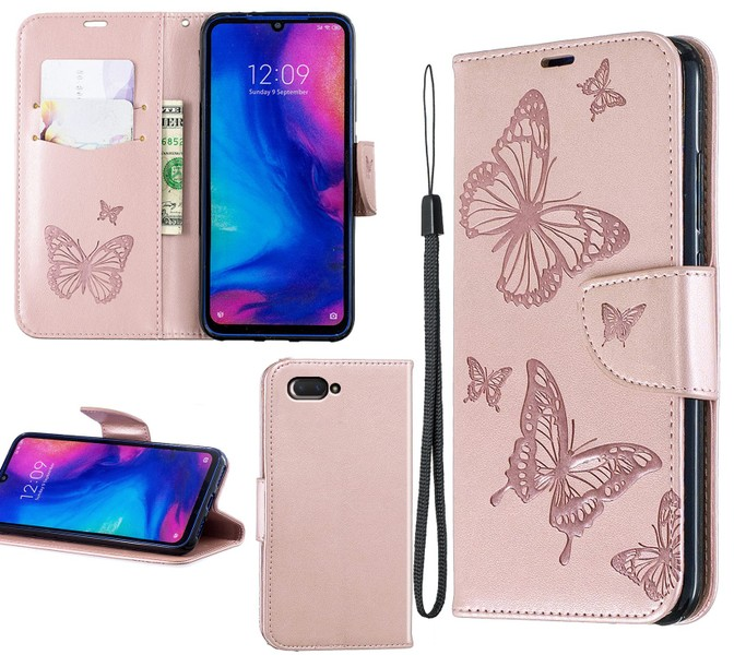 cheap for discount 6aaf5 04a72 Oppo ax5 / oppo A5 / Oppo A3S PU leather wallet case embossed twin  butterfly RG