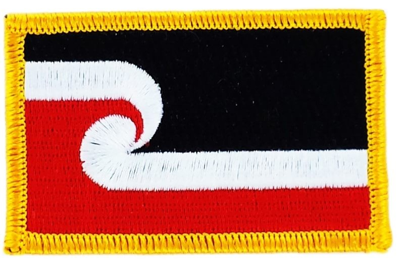 FLAG patch backpack national iron on glue embroidered applique maori