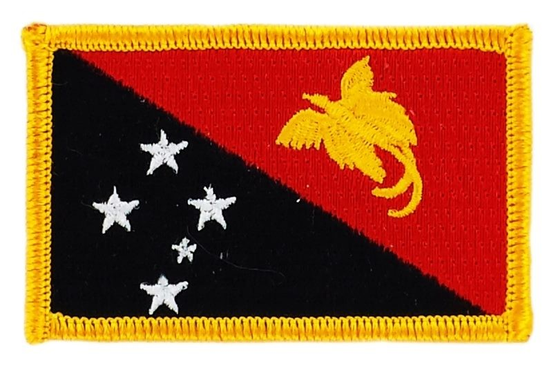 FLAG patch backpack national iron on glue embroidered applique papua new  guinea