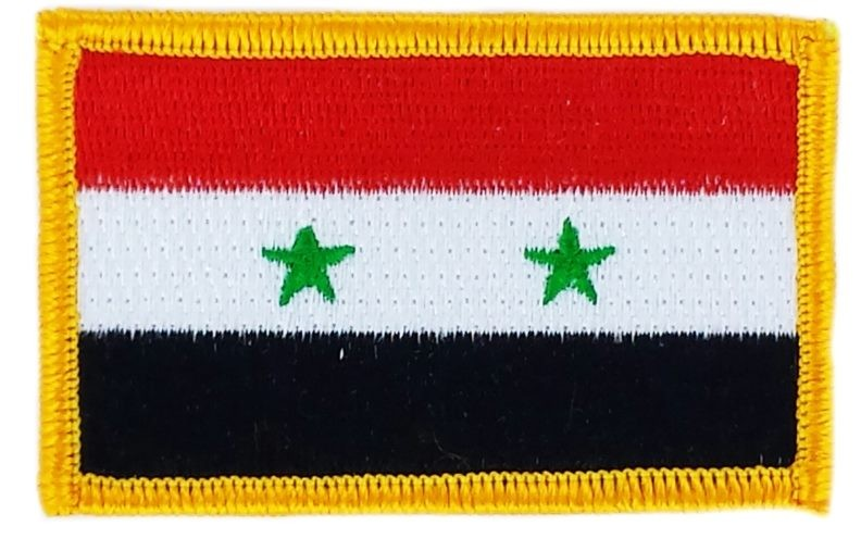 FLAG patch backpack national iron on glue embroidered applique syria