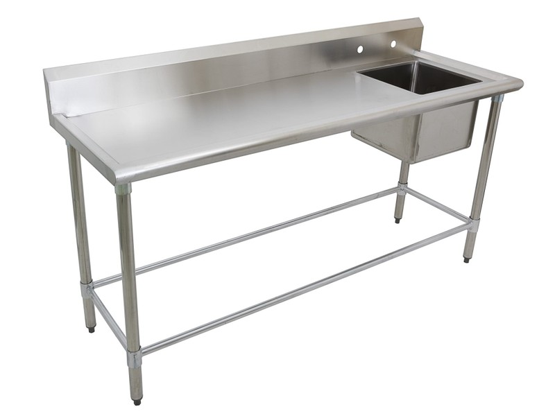Fabulous Stainless Steel Bench Right Side Single Sink Worktop 1 78M Pabps2019 Chair Design Images Pabps2019Com