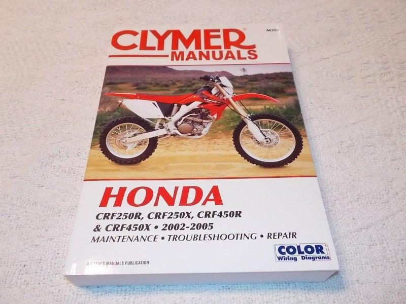 honda crf250 crf450 02 to 05 clymer service repair and maintenance manual    trade me