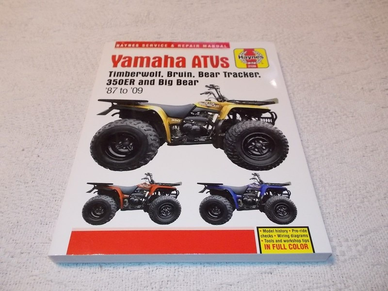 yamaha timberwolf bruin bear tracker 350er big bear haynes service repair  manual | trade me