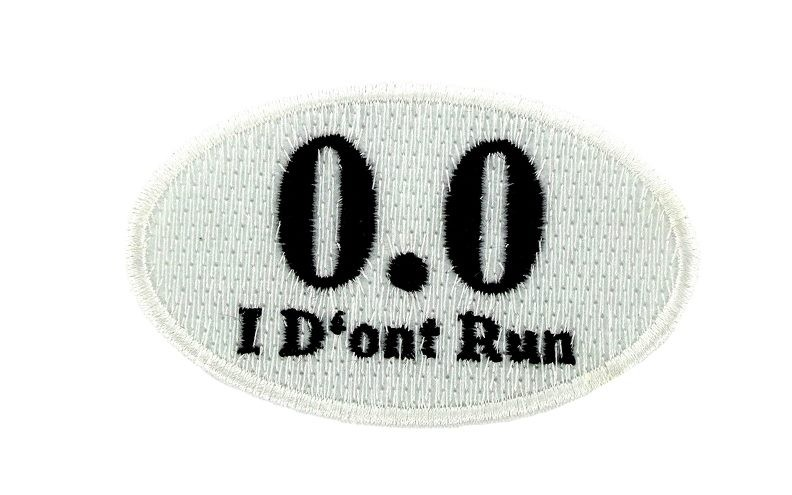 Flag patch patches backpack iron on i don't run marathon humorous