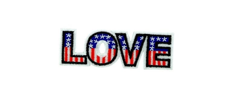 Patch backpack usa america united states love flag iron on / sew