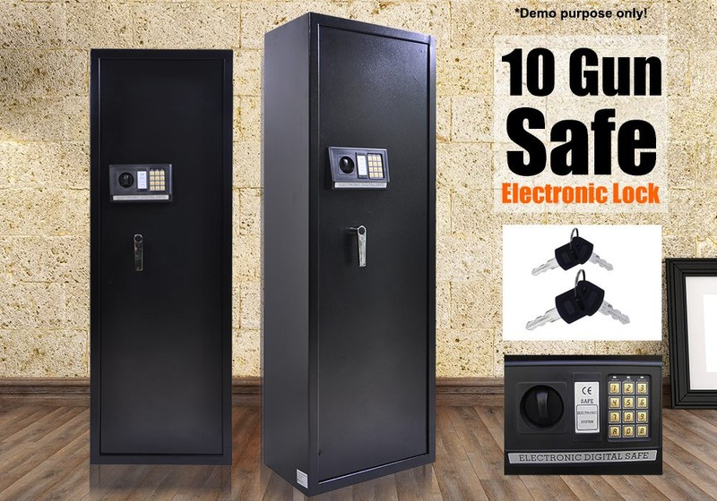 Gun Safe Cabinet Gun Storage Box 10 Guns