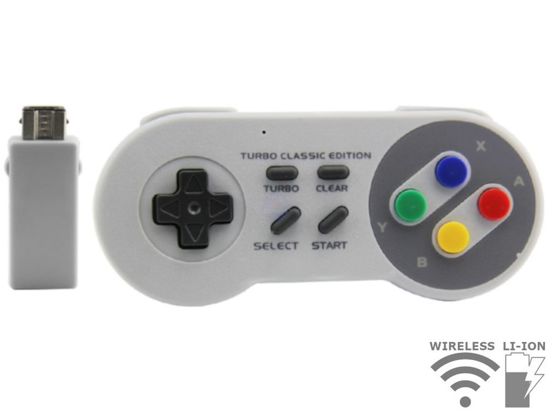 Wireless cordless rechargeable controller for Mini Nintendo SNES Classic  Edition