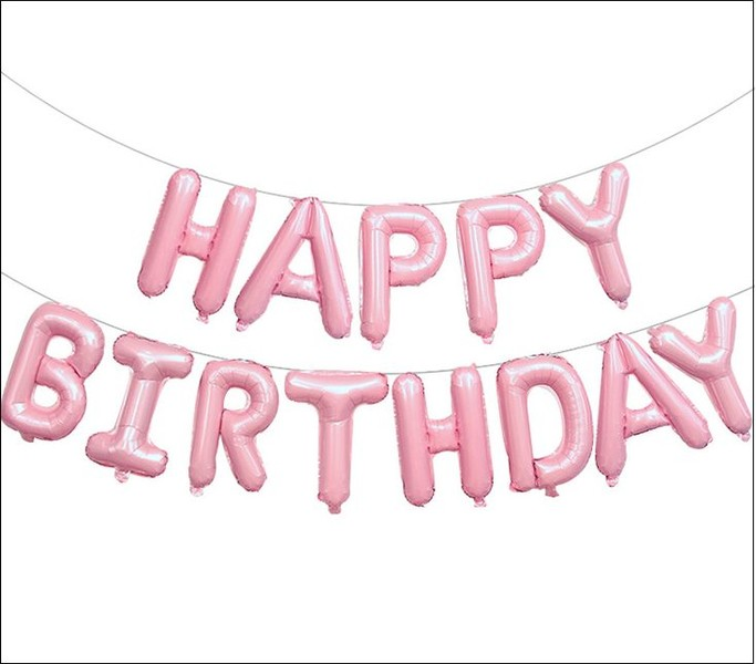 Pink Happy Birthday Letter Balloons.Foil Balloon Foil Balloon With Happy Birthday Letters Pink